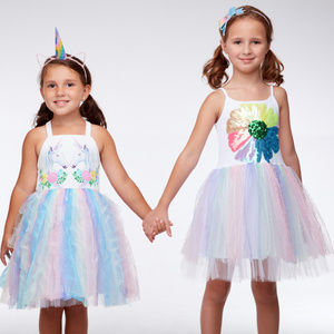 NEW Halabaloo  Tulle Unicorn Girls Dress 6 7 10